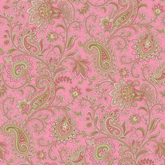 Pink Paisley Border   Paisley Swirl Pink Wallpaper