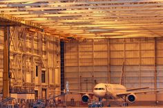 A look inside the United hangar at Denver International Airport.