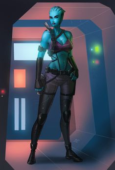 Mass Effect-based OC art commissioned by Taylorlive33.