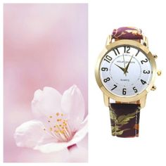 Reloj Floral Granate (7,50€) también disponible en Negro www.deplanoodetacon.com