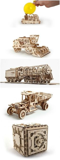 Amazing Mechanical 3d Wood Puzzles - #DIY+Crafts, #Funny #Art, #Craft, #Creative, #DIY, #Kids, #Wood (source: creativespotting.com)