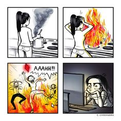 """c-cassandra: """"Some people just want to watch their sims burn. Sims Memes, Funny Memes, Hilarious, Sims Humor, Funny Gifs, Cute Comics, Funny Comics, C Casandra Comics, Sarah's Scribbles"""