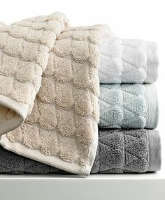 Great pattern... sadly boring colors. Kassatex Bath Towels, Bristol Collection