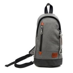 c69f6f7f0740 TSD Brand Urban Light Coated Canvas Sling Bag