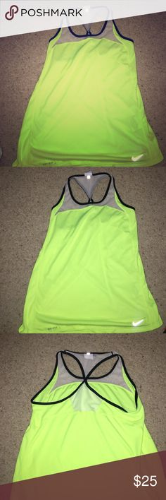 Nike dri-fit sport top Excellent condition. Only worn a few times. Perfect for running at night. very bright. Nike Tops Tank Tops