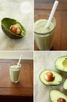 Sinh To Bo: Vietnamese Avocado Smoothie. Avocados + Ice + Sweeten Condense Milk - gotta say i have to try this cause i love avocados..