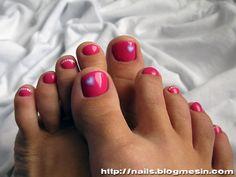 St. Valentine's Day toe nail art « Nails by Rabbit