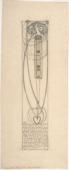 Drawing for a New Year's Card ( 1890-1928) by Charles Rennie Mackintosh (1868–1928).  Image and text courtesy The Metropolitan Museum of Art.