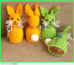 Szydełkowe ozdoby wielkanocne: kurki, baranki, zajaczki… na Stylowi.pl Easter Egg Pattern, Easter Crochet Patterns, Crotchet Patterns, Amigurumi Patterns, Knitting Patterns, Holiday Crochet, Crochet Gifts, Easter Projects, Easter Crafts