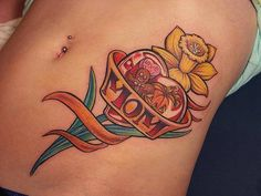 Daffodil Tattoos And Meanings-Daffodil Tattoo Designs And Ideas-Daffodil Tattoo Images Heart Flower Tattoo, Daffodil Tattoo, Small Heart Tattoos, Heart Tattoo Designs, Tattoo Designs For Girls, Flower Tattoos, Design Tattoos, Sunflower Tattoo Sleeve, Sunflower Tattoo Shoulder