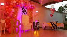 Victoria Secret Party, Chandelier, Neon Signs, Ceiling Lights, Ideas, Home Decor, Candelabra, Decoration Home, Room Decor