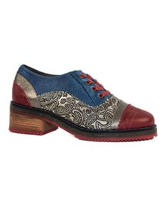 Siga Red & Blue Becca Leather Oxford   zulily