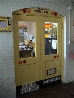 would be fun to have an office door or 2 like this one at our bus lot.