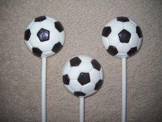 1 chocolate soccer ball molded favor favors lollipops lollipop | sapphirechocolates - Edibles on ArtFire