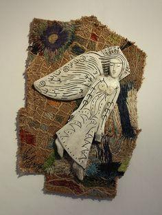 'Angel' by Matt & Amanda Caines (stitchwork and antler)
