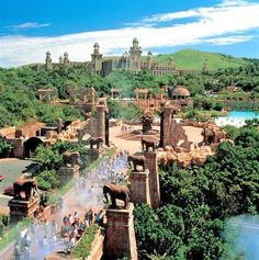 Palace of the Lost City, Sun City, South Africa .same architects that designed Atlantis in the BahamasThe Palace of the Lost City, Sun City, South Africa .same architects that designed Atlantis in the Bahamas Places To Travel, Places To See, Travel Destinations, Sun City Resort, Sun City Hotel, Les Continents, Lost City, Adventure Is Out There, Africa Travel