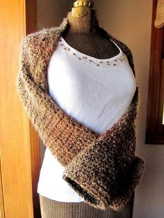 Crochet Pattern Ladies Sweater Shrug Pattern PDF by LazyTcrochet