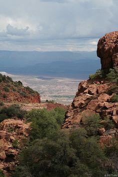 View from Jerome, Arizona Arizona City, State Of Arizona, Arizona Travel, Jerome Arizona, Beautiful World, Beautiful Places, Arizona Mountains, Sedona Red Rock, Living In Arizona