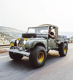 - Timm Cooper Built Land Rover Series One - 107 Ute — Brooklyn Coachworks Landrover Defender, Landrover Series, Defender 110, Moto Guzzi, Land Rover Pick Up, Diesel, Beach Buggy, Cars Land, Suzuki Jimny