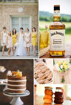Eat & drink wedding inspiration board by Simply Savannah Events.