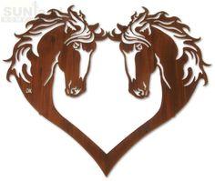 horse+wall+art | LZHOH28WHP - 28in Heart of Horses Wall Art --FD