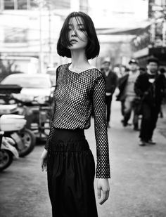 Du Juan for models.com, 'In Search of Lost Time - 5 Faces of China', May 2015