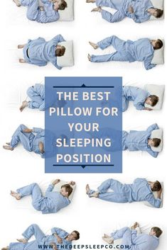 Are you a side sleeper, front sleeper, back sleeper or a combination? Read on to find the perfect type of pillow for any sleeping position. Natural Sleep Remedies, Natural Sleep Aids, Best Pillow, Perfect Pillow, Sleep Medicine, Side Sleeper Pillow, Good Sleep, Sleep Mask, Positivity