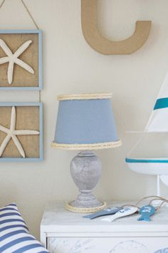 Simple little lamp makeover with rope. For many more ideas on how to spruce up lamps, head over to Completely Coastal: http://www.completely-coastal.com/search/label/Making%20Lamps