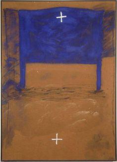 Tàpies, Antoni: Blau i dues creus (Azul y dos cruces)