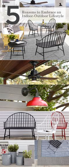 Blur the line between the indoors and out with lighting hardware furniture and