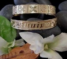 Hawaiian heirloom bracelets - gorgeous when piled on