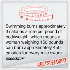 Swap the gym for a swim & burn through those calories! #health #fitness #getspeedofit