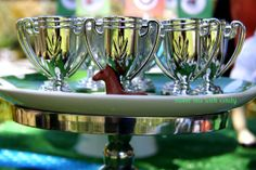 little derby trophies to use for cocktails or flowers