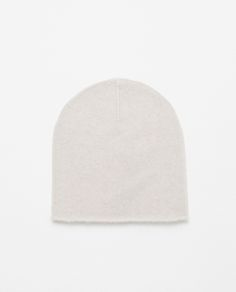 ZARA 100% Cashmere Hat in Ecru, £35.99
