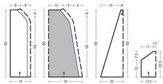 Схема и описание вязания на спицах пуловера-кейпа из журнала Verena №4/2015