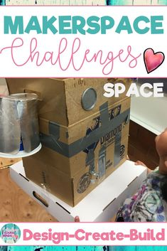 Combine thematic units and creative, artistic, outside-the-box thinking in these STEM and STEAM Makerspace activities about space! They are a great way to incorporate STEM into your core Reading, Math, Science or Social Studies instruction. They come in a