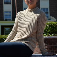 Independent Designer Feature: Ribbed Pullover by Lori Versaci — Kelbourne Woolens