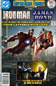 Super-Team Family: The Lost Issues! ... Iron Man and James Bond °°
