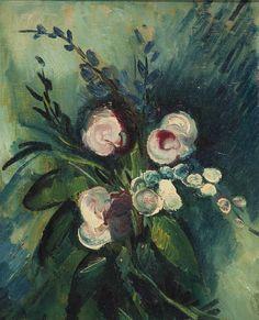 Maurice de Vlaminck (french, 1876-1958) bouquet de fleurs