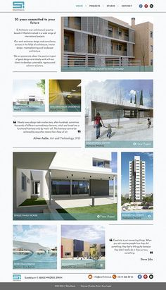 Website for an Architectural Practice that combines different images sizes with texts. #webdesign #inspiration #architect #website #diseñoweb #inspiracion #arquitectos #web