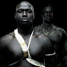Afrika - Senegalese Wrestlers