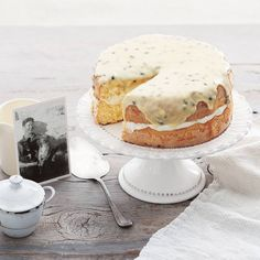 We've rounded up 22 superb sponge cakes like this passionfruit version for you to enjoy with a cuppa.