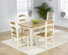Eton 120cm Solid Pine And Ash Kitchen Table With Chairs