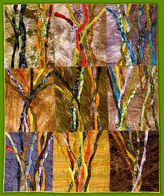 Woven Tiles V: Deep Woods for Dad, Pam Lowe