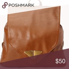 1 HOUR SALE Brown Modernist Faux Leather Backpack New Bags Backpacks