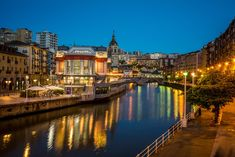 Bilbao market at blue hour stock photo. Image of church - 73291798 Bilbao, In Plan, Basque Country, Blue Hour, France, City Break, Urban Landscape, Spain, Places To Visit