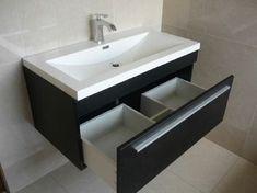 Bathroom vanity ideas decor New Ideas Bathroom Basin Cabinet, Bathroom Sink Design, Bathroom Design Luxury, Kitchen Cabinet Design, Wash Basin Cabinet, Bathroom Storage, Bedroom Cupboard Designs, Bedroom Closet Design, Home Decor Furniture