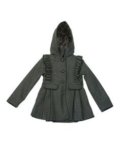 Love this Charcoal Skirted Coat - Toddler & Girls on #zulily! #zulilyfinds