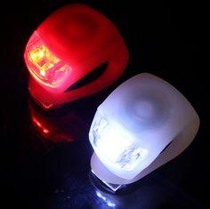 ミニbrillant防水シリコンバイク自転車サイクリング警告ライトledフロントライトリアテールランプカラー白赤BL6003