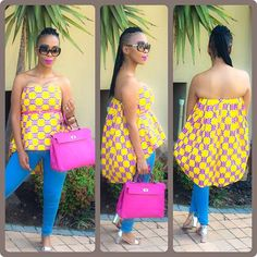 Love this cape top Nhlanhla Nciza African Print Dresses, African Print Fashion, African Dress, Fashion Prints, African Prints, African Tops, African Women, African Style, African Attire